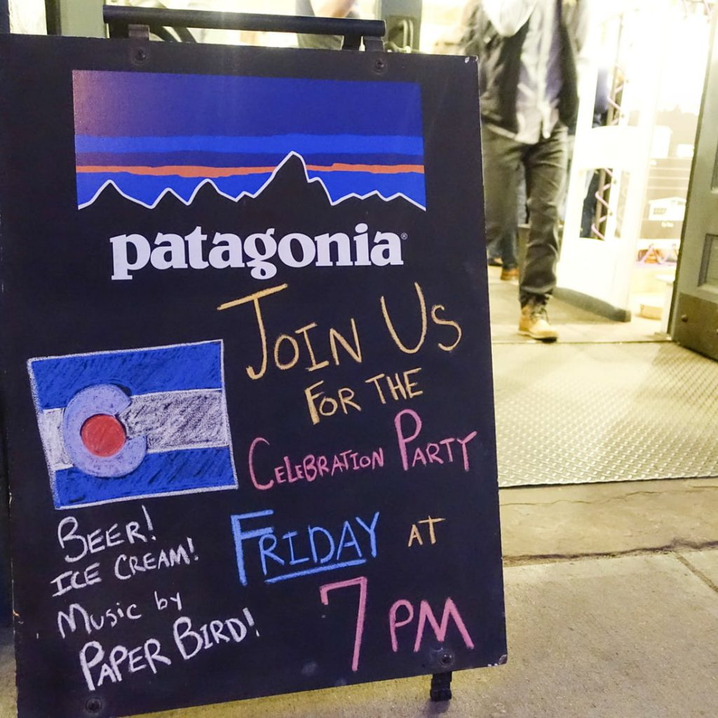 Patagonia Denver store party
