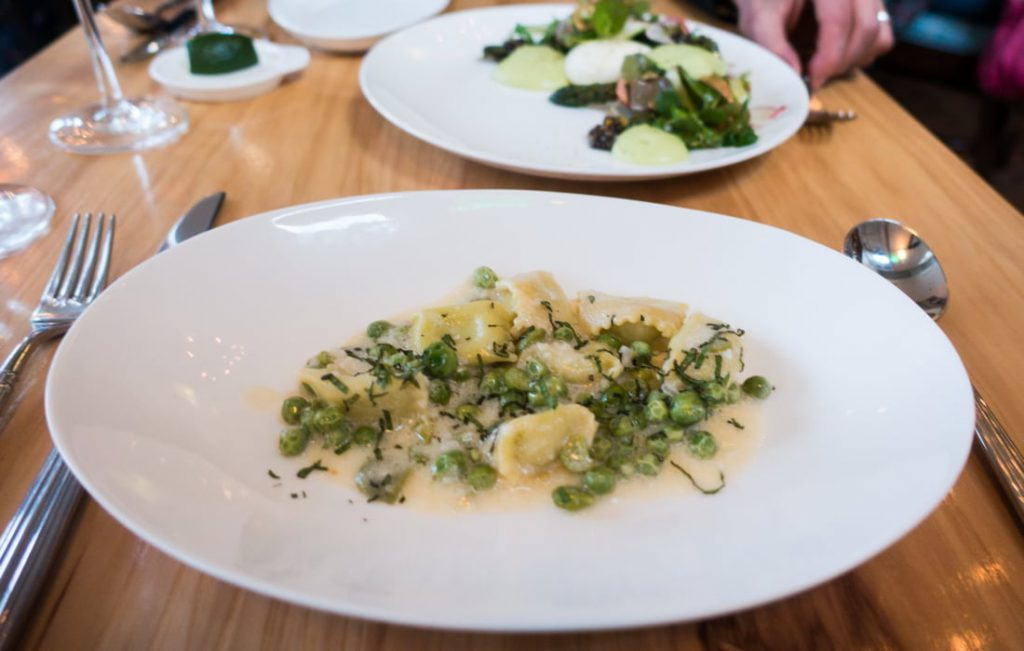 Fava Bean Agnolotti at The Mercantile