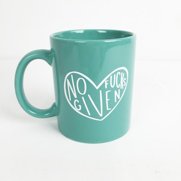 "Craft Boner's ""No Fucks Given"" mug"