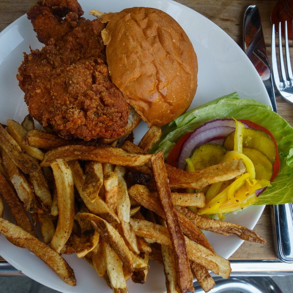 Pop's Place Sous Vide Fried Chicken Sandwich