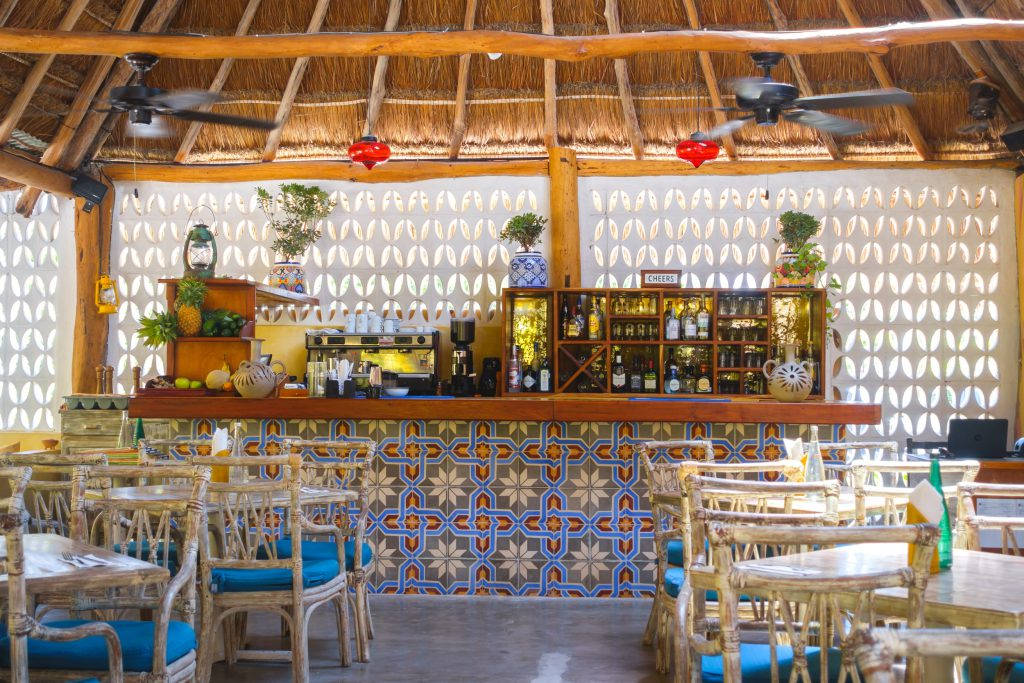 The bar at the Villa Pescadores Restaurant
