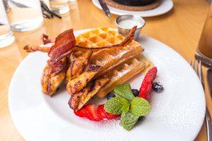 Lemongrass Chicken and Waffles at Aloy Modern Thai
