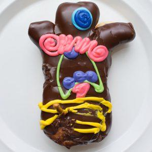Voodoo Doll donut from Voodoo Doughnut