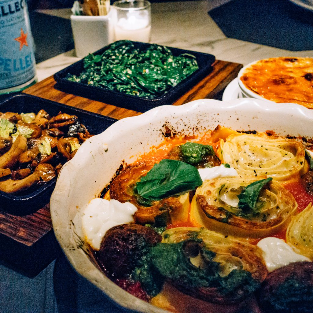 Baked Lasagna and Filet Meatballs at Quality Italian