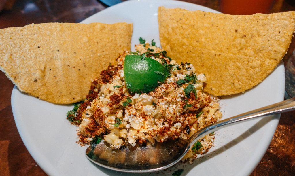 Roasted Corn Dish at Elote