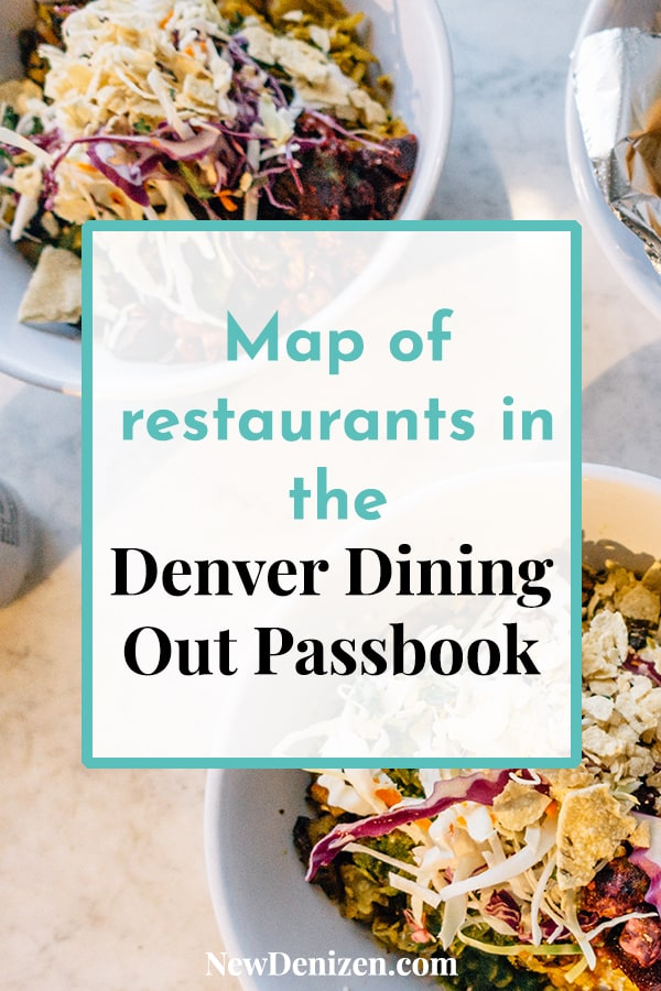 Pin this! Map of Denver Dining Out Passbook Restaurants