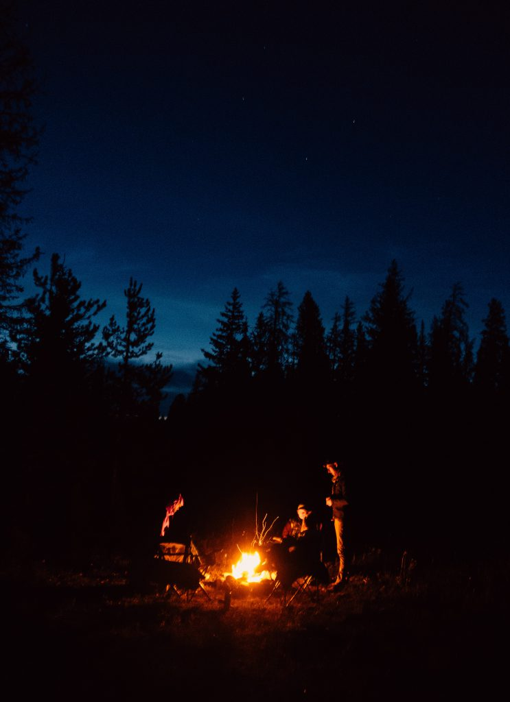Campfire in the Shoshone National Forest
