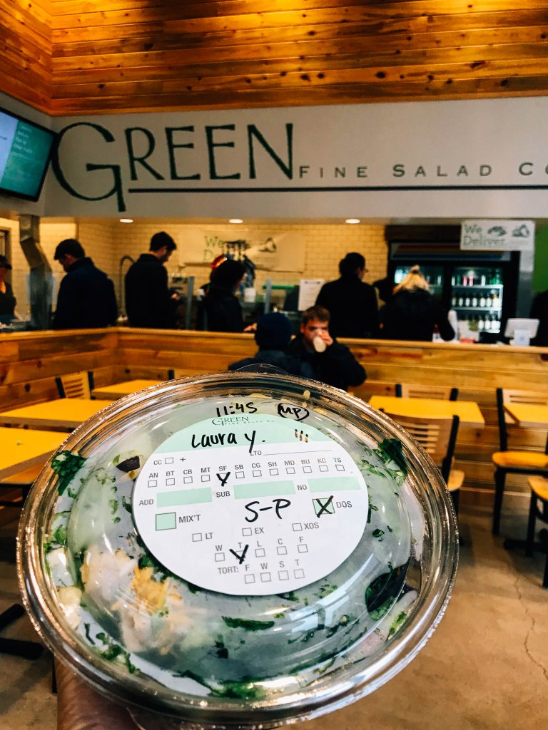Inside Green Fine Salad Co restaurant