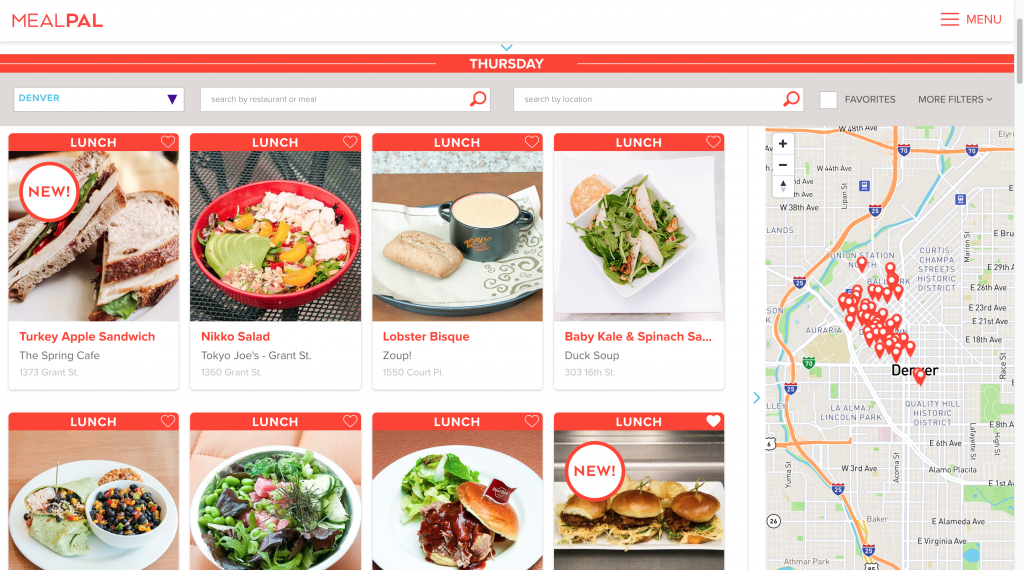 MealPal screenshot