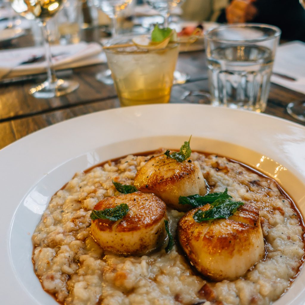 Seared sea scallops from Bremen's