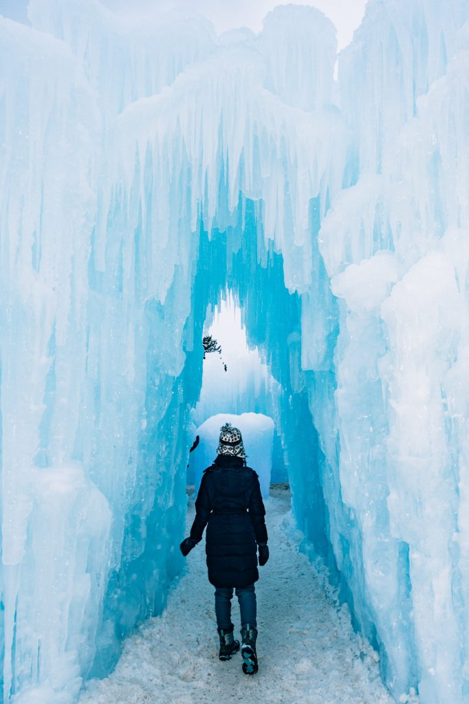 Entrance to Ice Castles Dillon