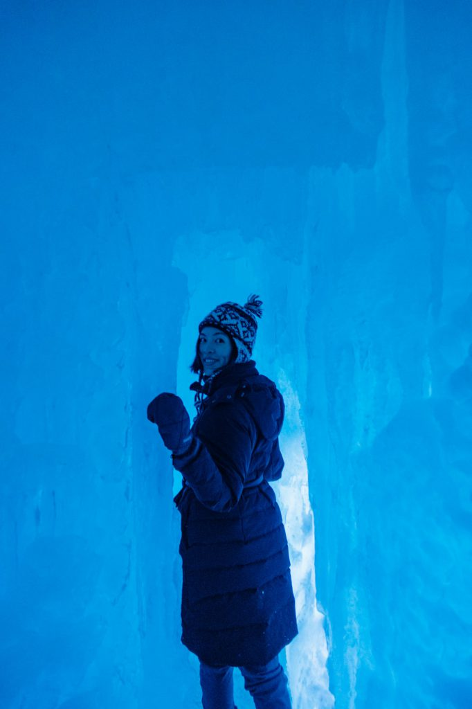 Ice tunnel at Ice Castles Dillon