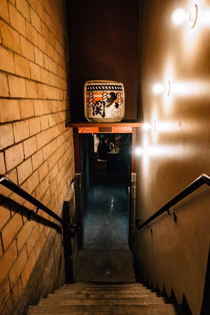 Izakaya Ronin speakeasy stairwell