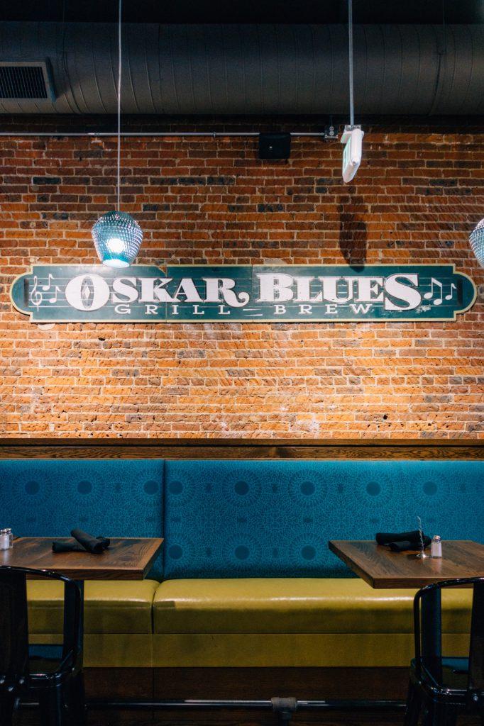 Brick wall at Oskar Blues