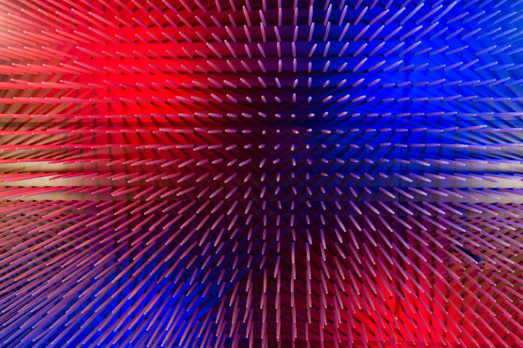 Drumstick ceiling at Oskar Blues