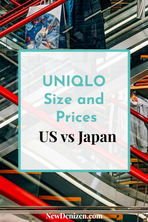 Pin this! UNIQLO size and prices: US vs Japan