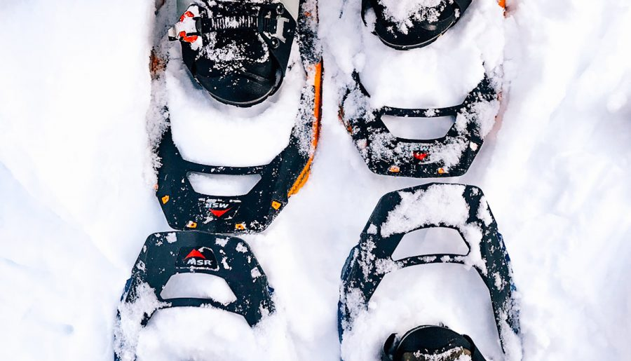 His and her snowshoes