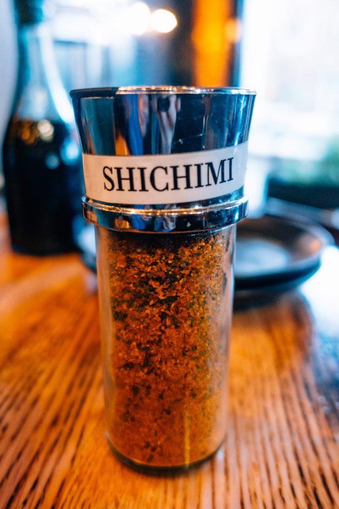 Shichimi togorashi at Mizu Izakaya
