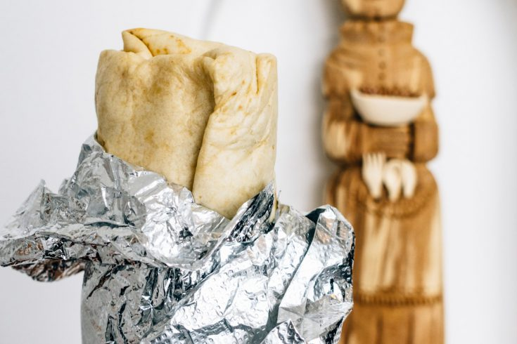 Santo veggie burrito