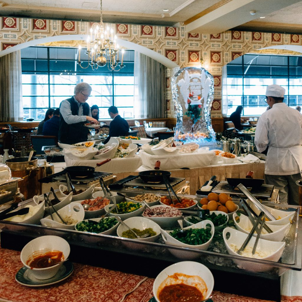 Buffet at Brown Palace Sunday brunch