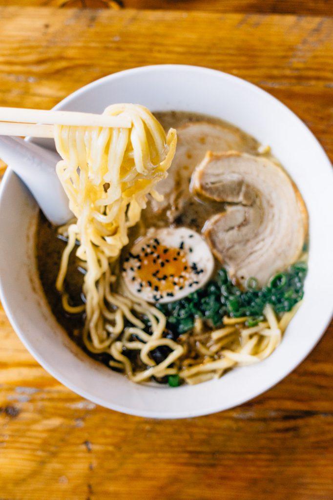 Tonkotsu ramen bowl