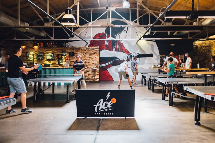 Indoor Ping Pong at Ace Eat Serve