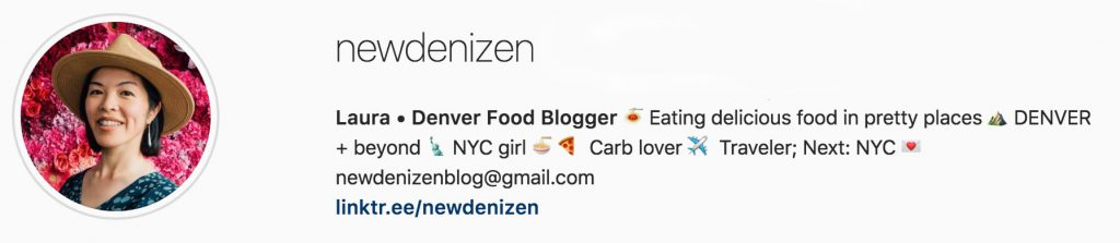 New Denizen instagram bio