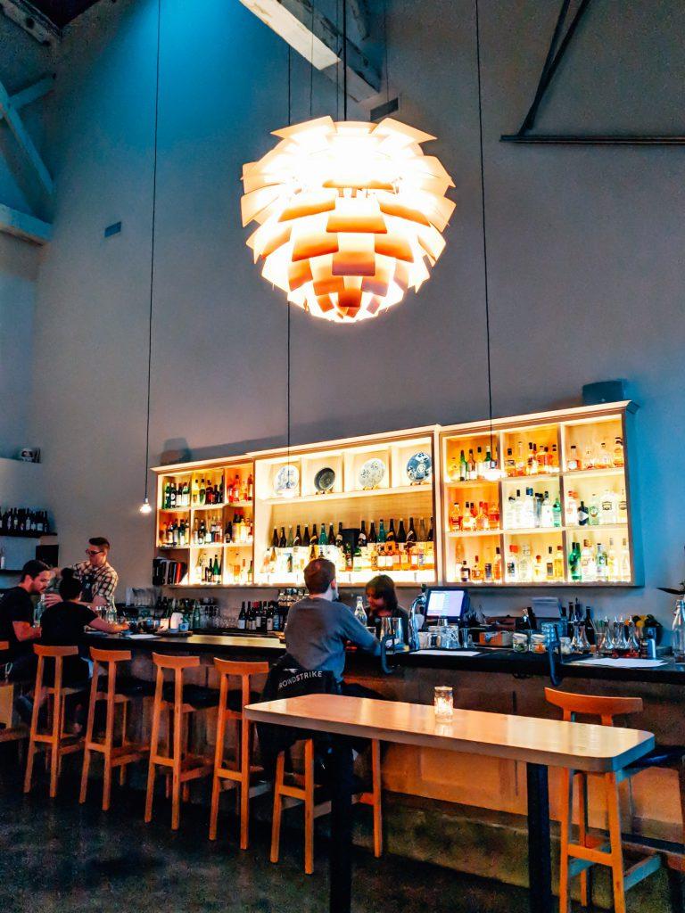 Bar area at Afuri Portland