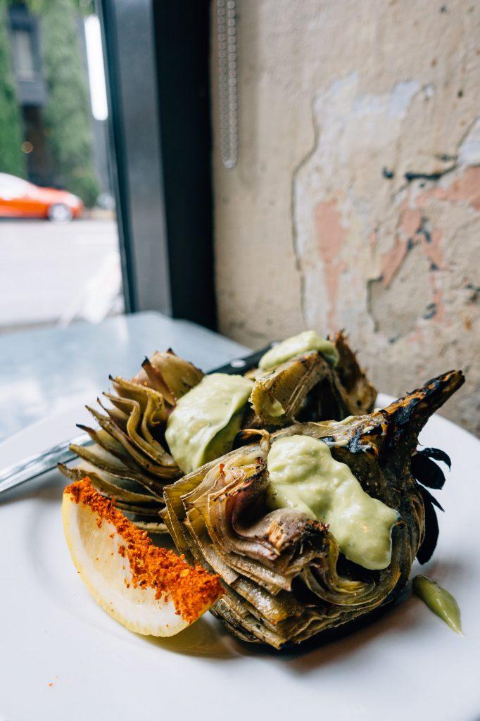Grilled Artichoke at Tasty n Adler