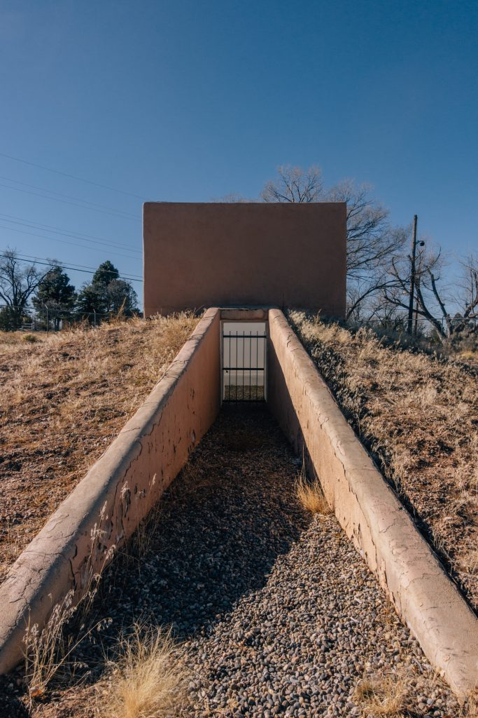 Entrance of Blue Blood by James Turrell when it was in Santa Fe, NM