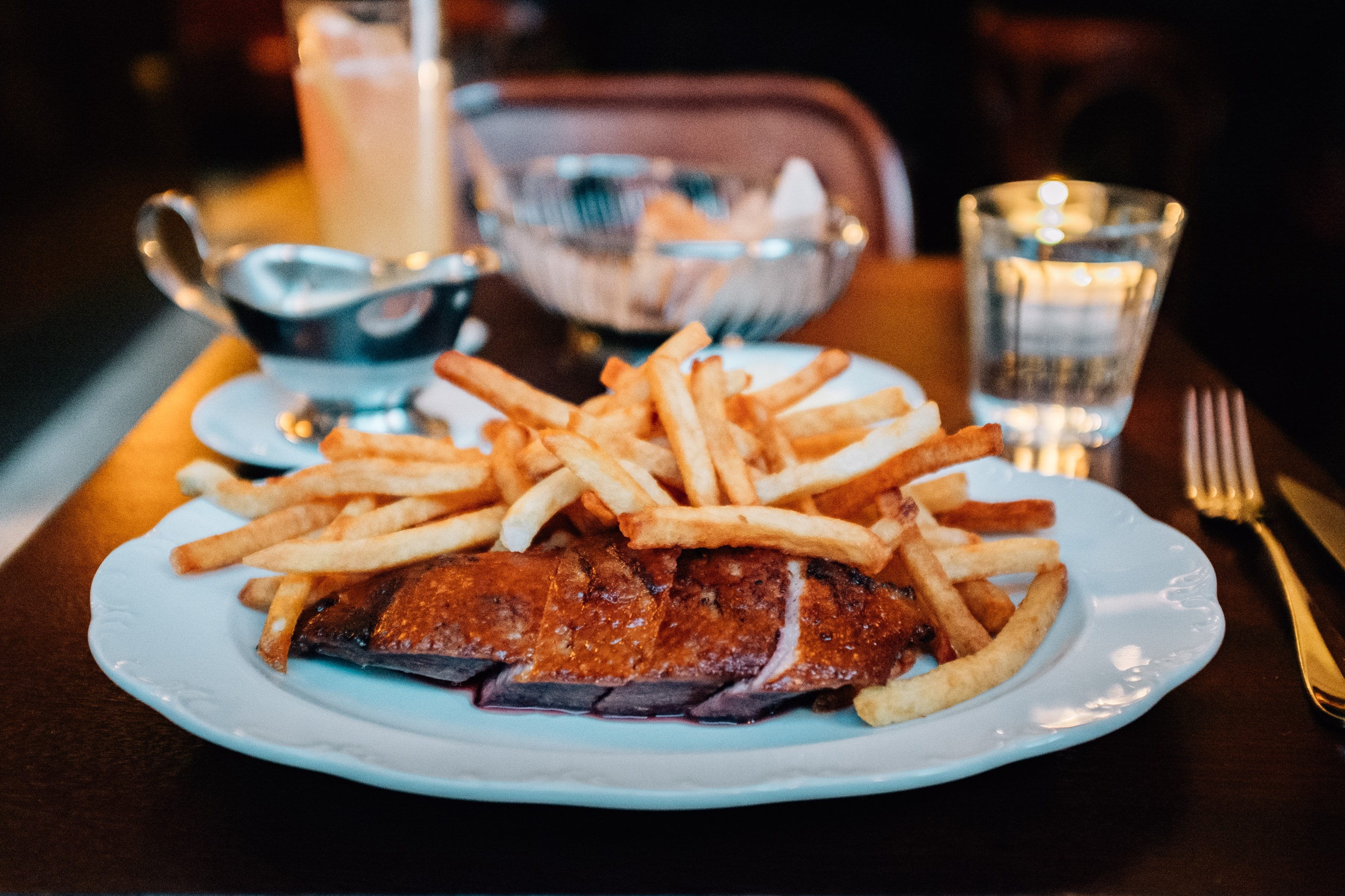 Duck Frites at Frenchette