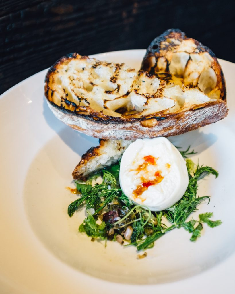 Delizioso burrata at Blackbelly in Boulder, CO