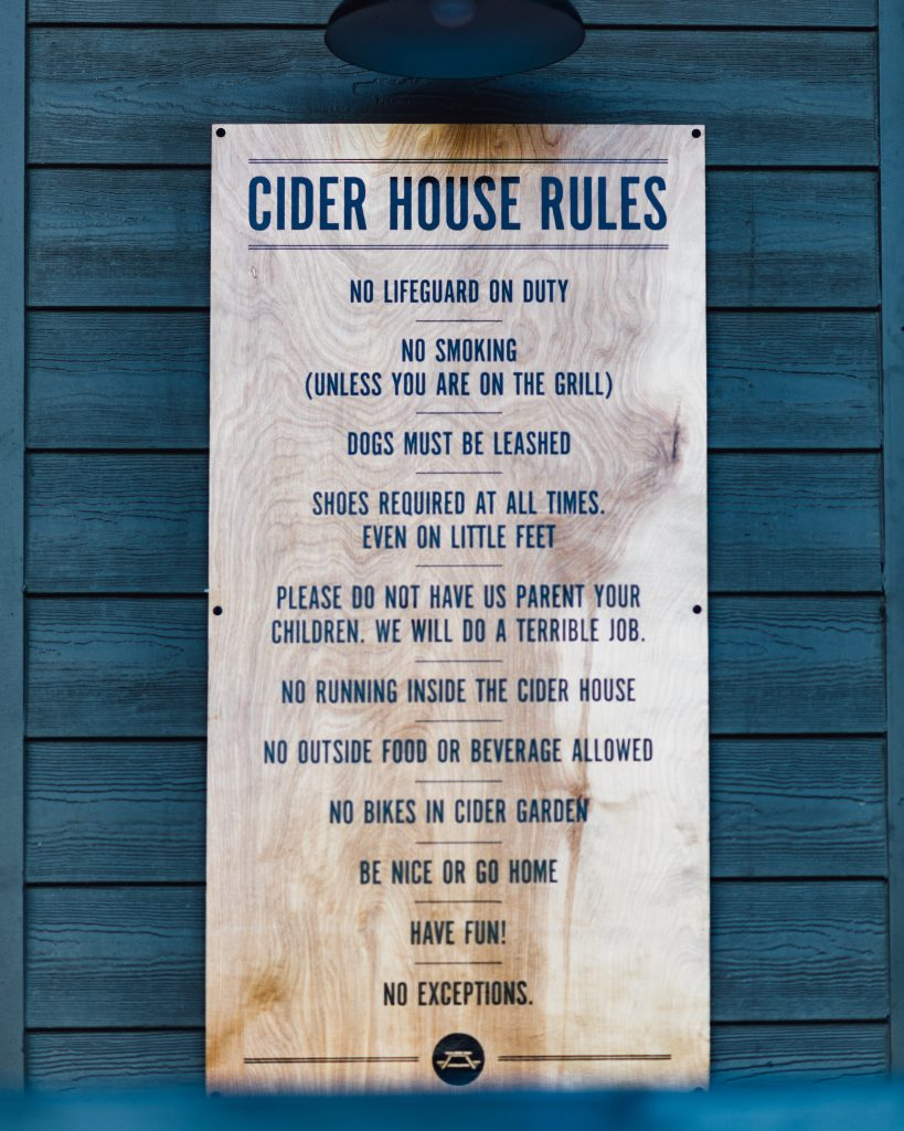 Cider house rules at Acreage at Stem Ciders