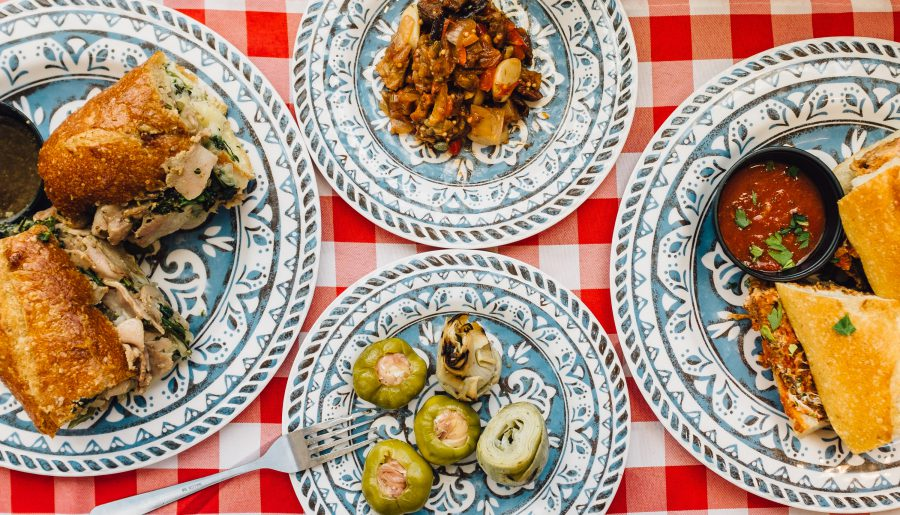 Plates of food at Lou's Italian Specialties