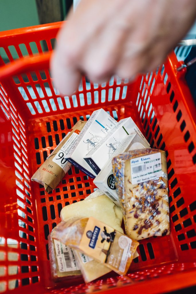 Shopping basket at Lou's Italian Specialties