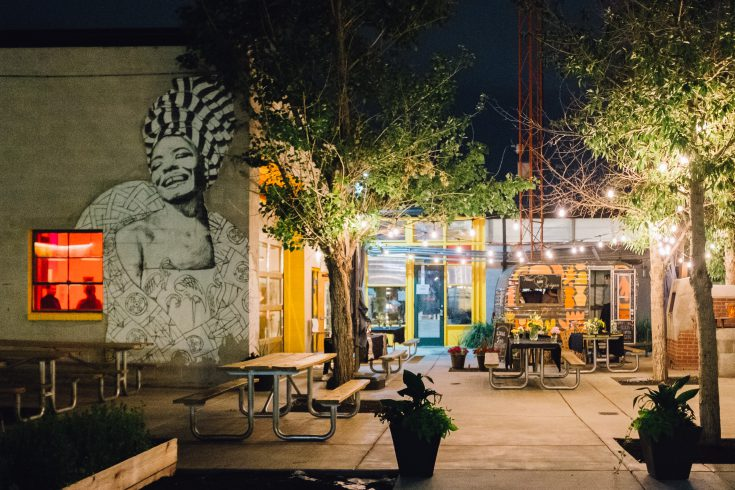 Comal Heritage Food Incubator at night