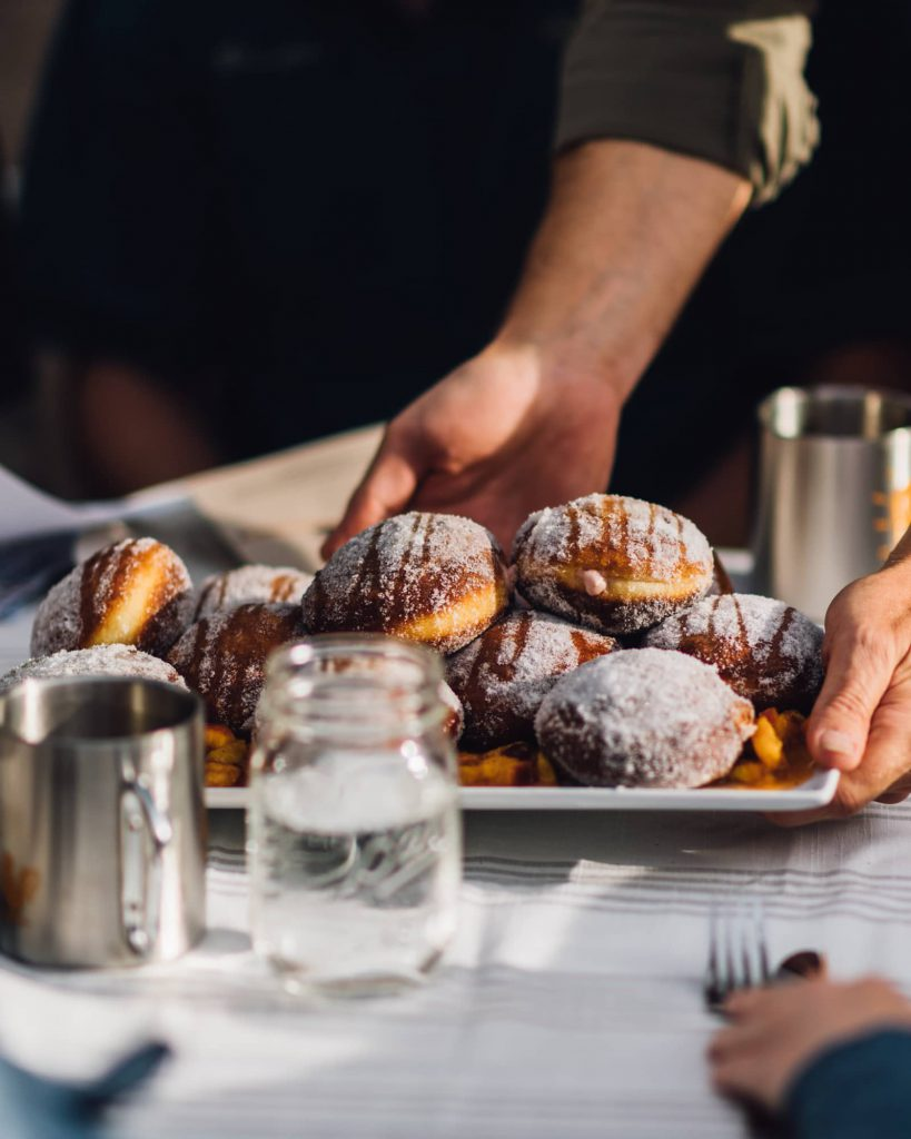 Plum Ricotta Doughnut at Union Station Farmers Market Chef Council Breakfast