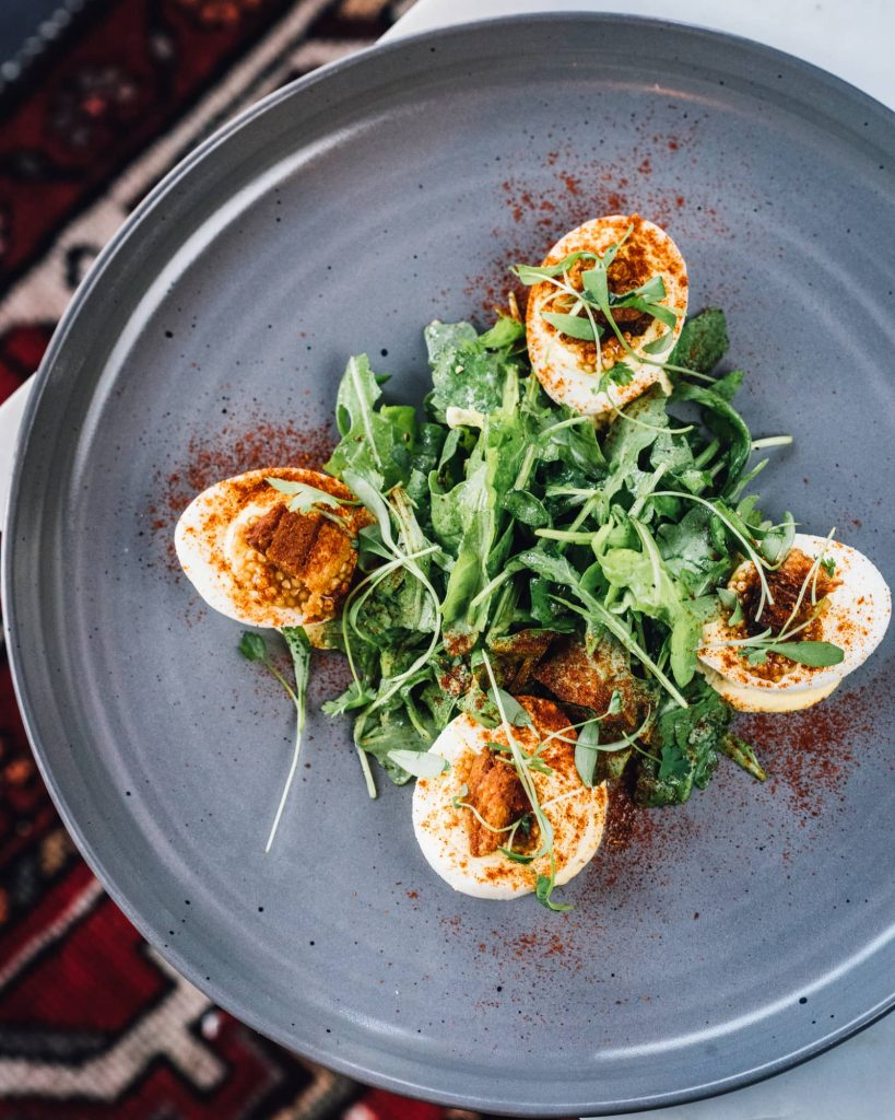 Deviled eggs at American Elm