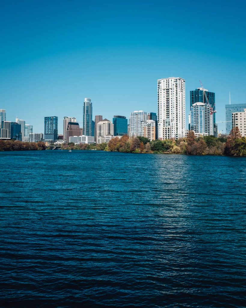 View of Downtown Austin from Lady Bird Lake
