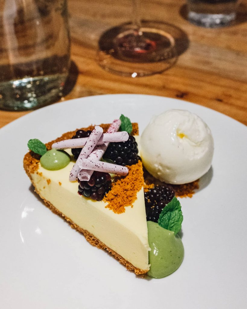 Key Lime Ice Box Pie at Launderette