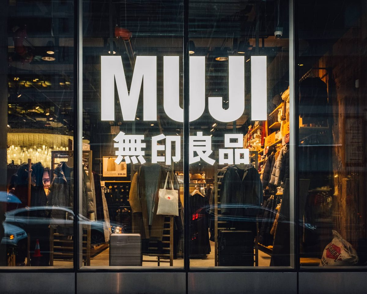 Outside of MUJI Store in NYC