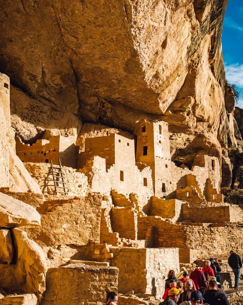 On a ranger-led tour of Cliff Palace in Mesa Verde