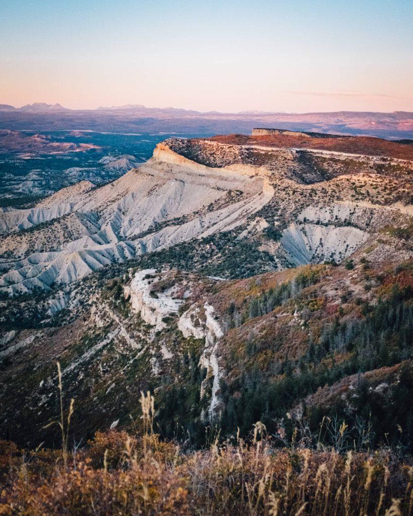 El Diente, Wilson Peak in the distance at Park Point in Mesa Verde National Park
