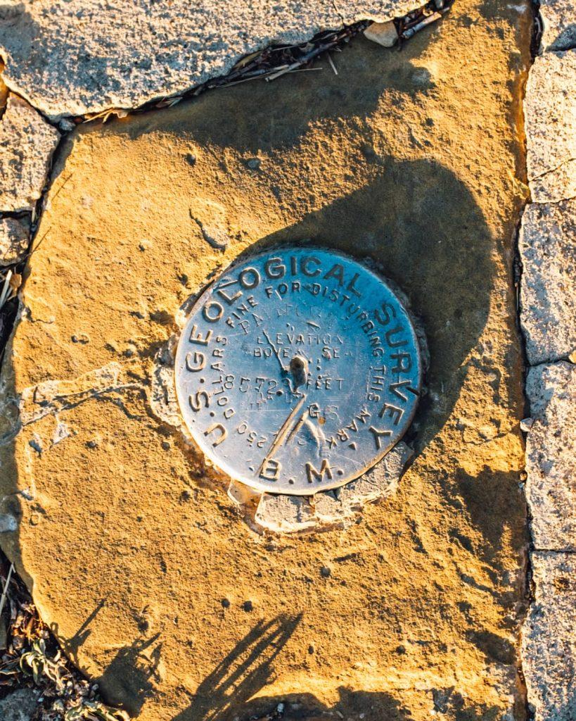 Elevation medallion at Park Point in Mesa Verde National Park