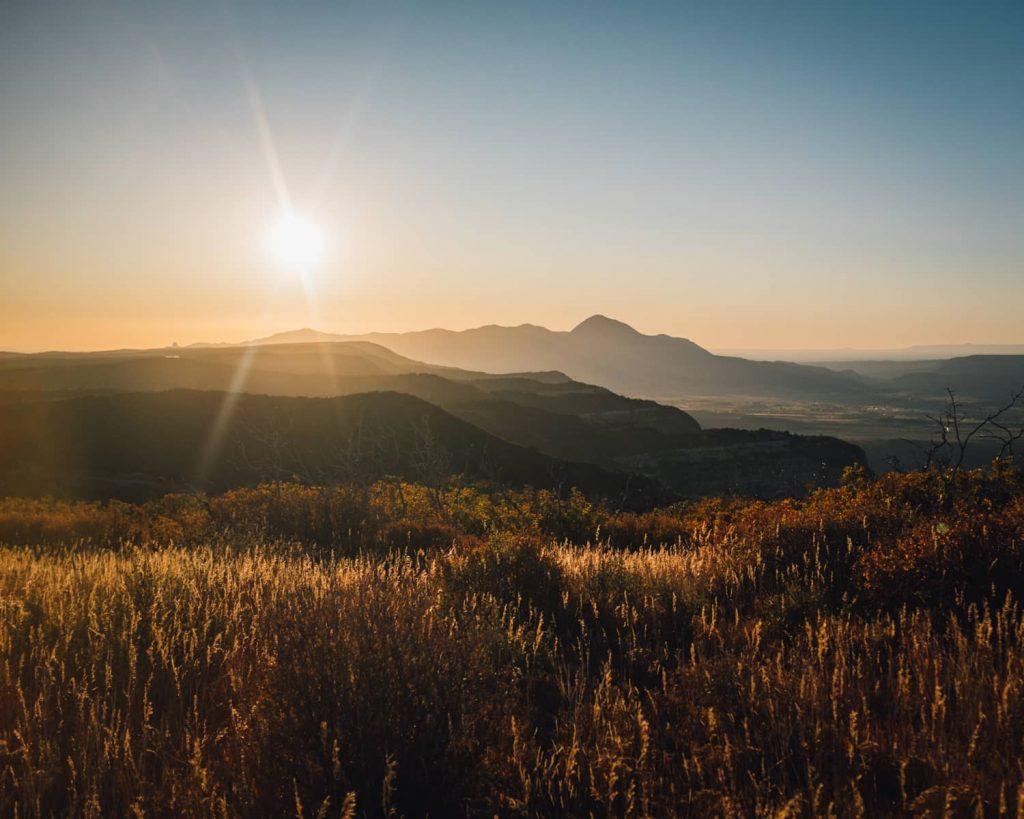 Sleeping Ute Mt as seen from Park Point in Mesa Verde National Park