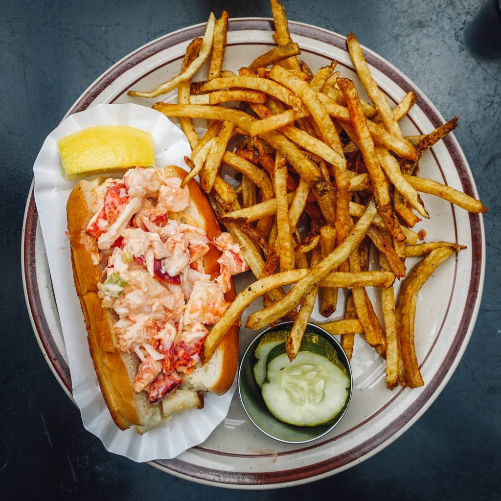 Maine lobster roll from Steuben's Uptown